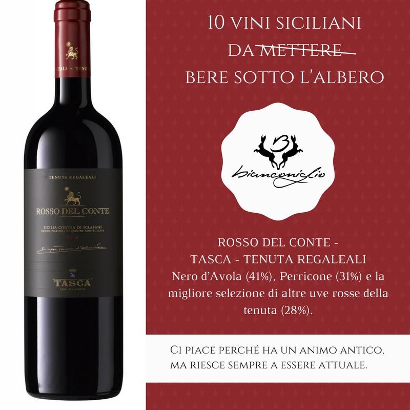 Rosso del conte Tasca D'almerita - Ristorante Bianconiglio